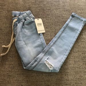 Jogger skinny jeans